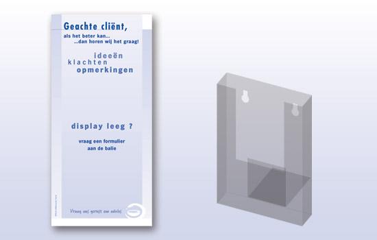 displaykaart en bakje
